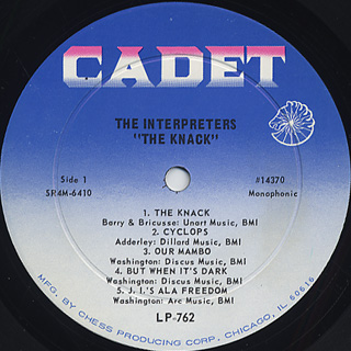 Interpreters / The Knack label