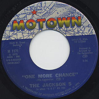 Jackson 5 / I'll Be There c/w One More Chance back