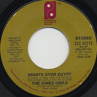 Jones Girls / Nights Over Egypt