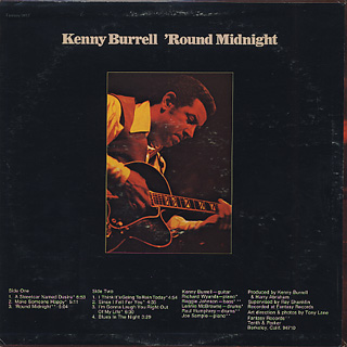 Kenny Burrell / 'Round Midnight back