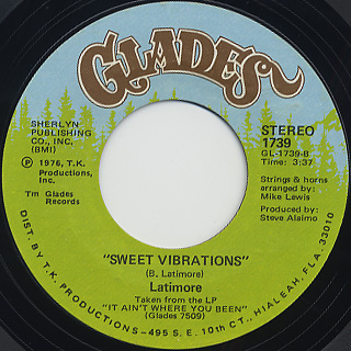 Latimore / Sweet Vibrations front