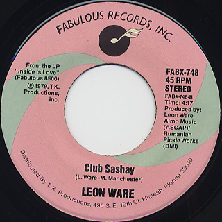 Leon Ware / What's Your Name c/w Club Sashay back