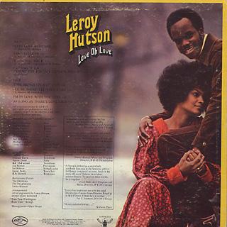 Leroy Hutson / Love Oh Love back