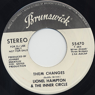 Lionel Hampton & The Jazz Inner Circle / Them Changes front