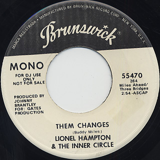 Lionel Hampton & The Jazz Inner Circle / Them Changes back
