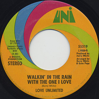 Love Unlimited / Walkin' In The Rain With The One I Love