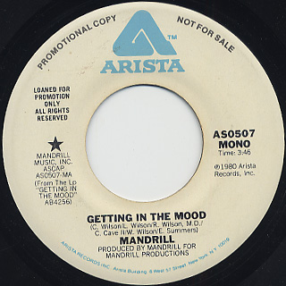 Mandrill / Getting In The Mood (45) back