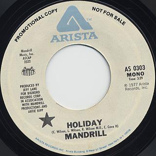 Mandrill / Holiday back