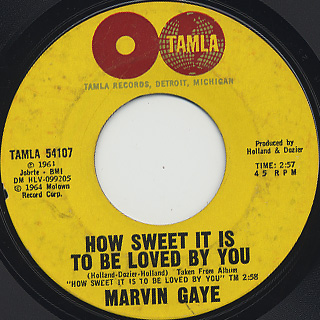 Marvin Gaye / How Sweet It Is To Be Loved By You (45)