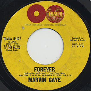 Marvin Gaye / How Sweet It Is To Be Loved By You (45) back