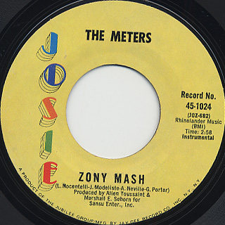 Meters / A Message From The Meters c/w Zony Mash back