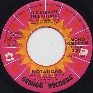 Notations / It's Alright c/w (Mono) back