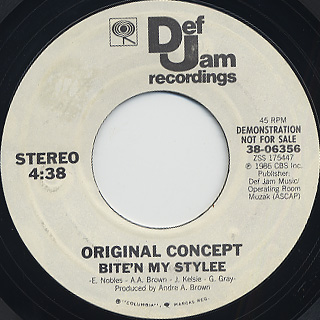Original Concept / Bite'n My Stylee (Promo 45) front