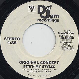 Original Concept / Bite'n My Stylee (Promo 45) back