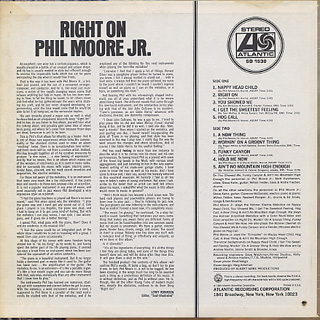 Phil Moore Jr. / Right On back
