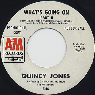 Quincy Jones / What's Going On back