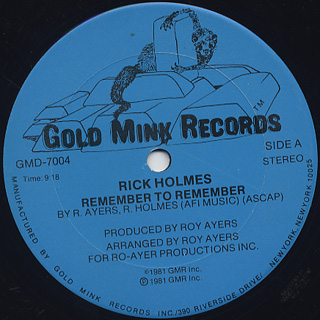 Rick Holmes / Remember To Remember