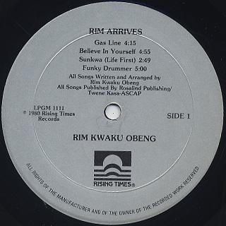 Rim Kwaku Obeng / Rim Arrives label