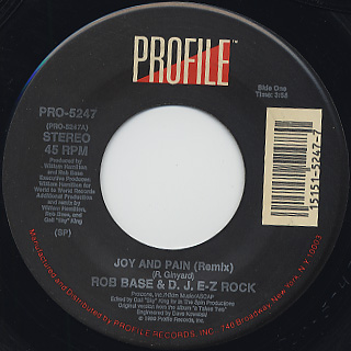 Rob Base & D.J. E-Z Rock / Joy And Pain (remix)