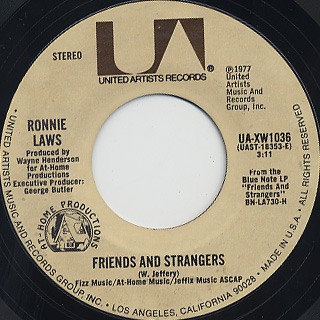 Ronnie Laws / Friends And Strangers (45)
