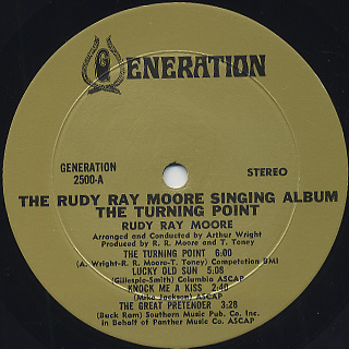 Rudy Ray Moore / The Turning Point label