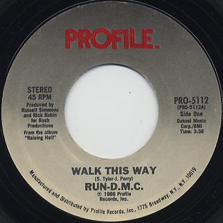 Run-D.M.C / Walk This Way c/w King Of Rock