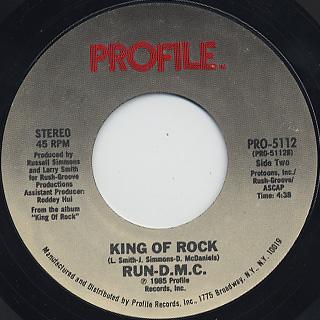 Run-D.M.C / Walk This Way c/w King Of Rock back