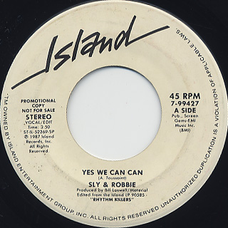 Sly & Robbie / Yes We Can Can
