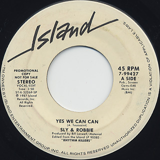 Sly & Robbie / Yes We Can Can back