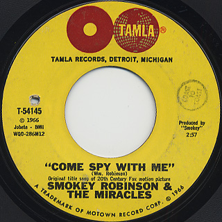Smokey Robinson And The Miracles / The Love I Saw In You Was Just A Mirage back