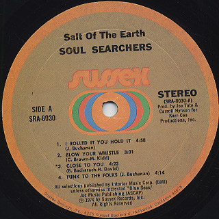 Soul Searchers Salt Of The Earth Lp Sussex 中古レコード通販