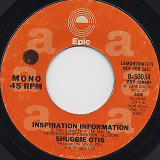 Suggie Otis / Inspiration Information back