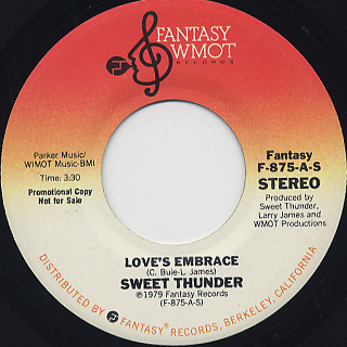 Sweet Thunder / Love's Embrace front