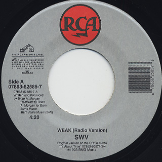 SWV / I'm So Into You c/w Weak back