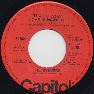 Sylvers / That's What Love Is Made Of
