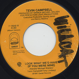 Tevin Campbell / Can We Talk c/w Look What We'd Have back