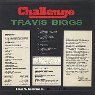 Travis Biggs / Challenge back