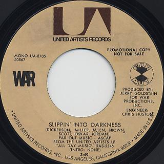 War / Slippin' Into Darkness