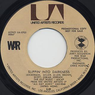 War / Slippin' Into Darkness back