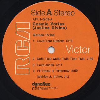 Weldon Irvine / Cosmic Vortex label