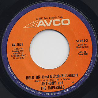 Anthony and The Imperials / I've Got To Let You Go(Part I) c/w Hold On back
