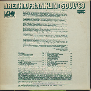 Aretha Franklin / Soul '69 back