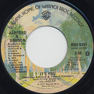 Ashford and Simpson / Over And Over c/w It's You back
