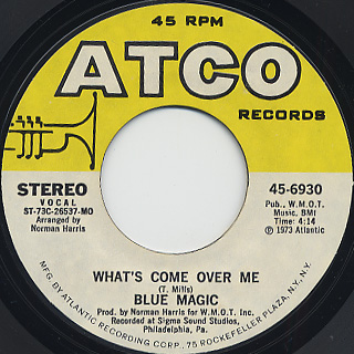 Blue Magic / Look Me Up c/w What's Come Over Me