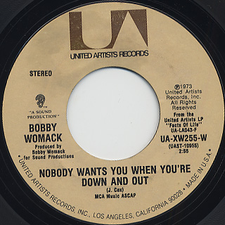 Bobby Womack / I'm Through Trying To Prove My Love To You back