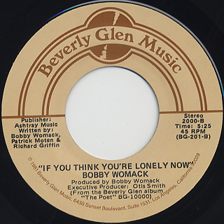 Bobby Womack / Secrets c/w If You Think You're Lonely Now back