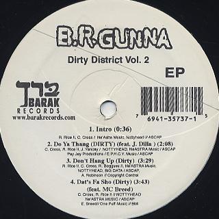 B.R. Gunna / Dirty District Vol.2 back