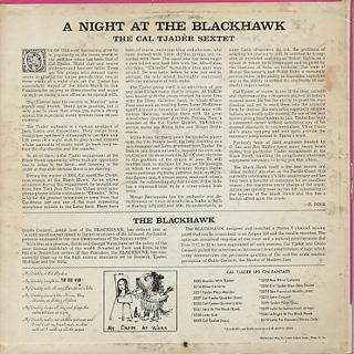 Cal Tjader Sextet / A Night At The Blackhawk back