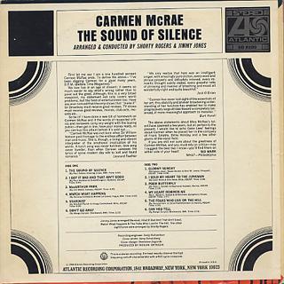 Carmen McRae / The Sound Of Silence back