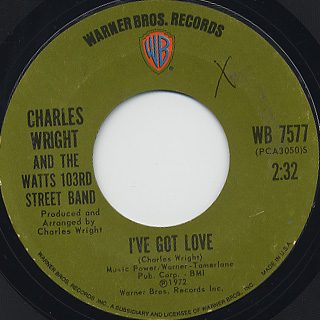 Charles Wright and The Watts 103rd Street Band / Let's Make Love - Not War back